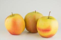3 яблока на белой предпосылке Стоковые Фото