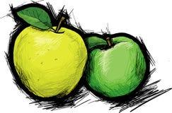 2 яблока Стоковые Фотографии RF