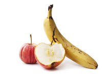 Яблоки и банан Стоковая Фотография RF