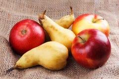 Яблоки и груши Стоковое фото RF