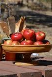 Яблоки и сбор Стоковое фото RF