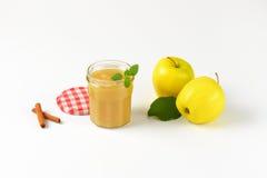 Яблоки и соус яблока Стоковые Изображения