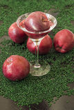 Яблоки и стекло Мартини. Стоковая Фотография RF