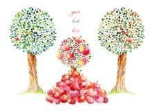 Яблоки падают вверх Стоковая Фотография