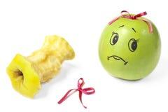 Яблоки с комично покрашенными сторонами Стоковые Изображения