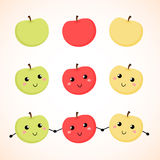 Яблоки также вектор иллюстрации притяжки corel Справочная информация Стоковая Фотография