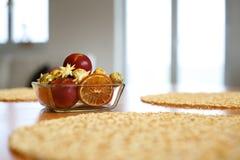 Яблоки украшения рождества Стоковые Изображения RF
