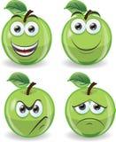 Яблоки шаржа смешные Стоковые Фото