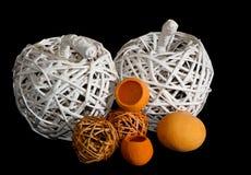 Яблоки weave корзины Стоковые Изображения RF