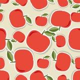 яблоко безшовное Безшовная текстура с зрелыми красными яблоками Стоковое фото RF