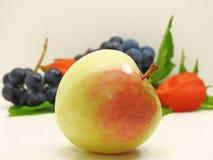 Яблоко, виноградины согласия черные и физалис цветут Стоковая Фотография RF