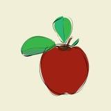 яблоко выходит красный цвет Стоковое Изображение