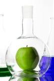 Яблоко в beaker Стоковые Фото