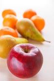 Яблоко, груша и tangerines Стоковое фото RF