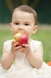 яблоко есть малыша Стоковая Фотография RF