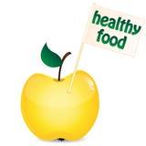 Яблоко желтого и малого флага Иллюстрация штока
