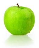 Яблоко, зеленый цвет, вода падения Стоковые Фотографии RF