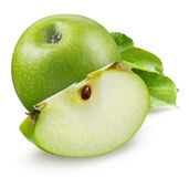 яблоко - зеленый цвет Состав изолированный на белизне Стоковое Изображение