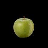 яблоко - зеленый цвет Съемка студии изолированная на черноте Стоковые Фотографии RF