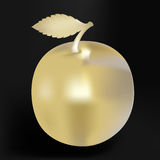 яблоко золотистое Иллюстрация вектора