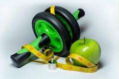 Яблоко, измеряя лента и имитатор Стоковые Фотографии RF