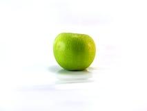 яблоко - изолированный зеленый цвет Стоковое Фото