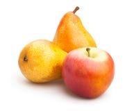 Яблоко и груша Стоковые Фотографии RF