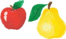 Яблоко и груша Стоковая Фотография RF