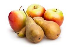 Яблоко и груша Стоковое Фото