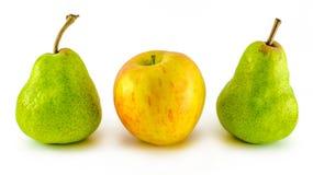 Яблоко и груша Стоковое Изображение RF