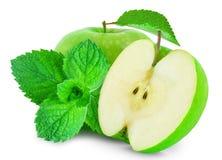 Яблоко и мята стоковое изображение