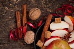 Яблоко и специи Стоковые Фотографии RF