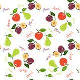 Яблоко, картина груши безшовная Стоковое Фото