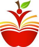 Яблоко книги Стоковое Изображение RF