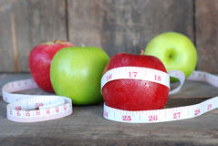 Яблоко, концепция диеты плодоовощ Стоковые Фотографии RF