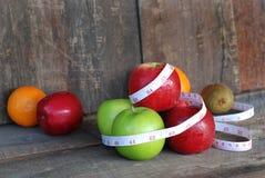 Яблоко, концепция диеты плодоовощ Стоковое Изображение RF