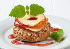 Яблоко крошит печенье Стоковое Изображение