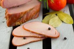 Яблоко курило поясницу свинины Курильщик цифров стоковые изображения