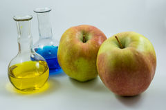 Яблоко науки Стоковое Изображение RF