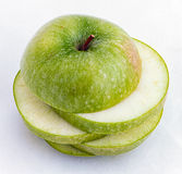 яблоко - отрезанный зеленый цвет Стоковые Изображения RF