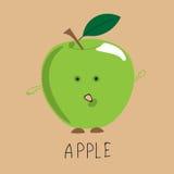 Яблоко покрашенное зеленым цветом Стоковая Фотография