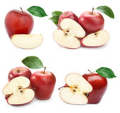 Яблоко приносить с лист стоковая фотография rf