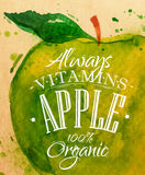 Яблоко плаката Стоковые Изображения