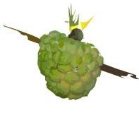 Яблоко сахара искусства зажима стоковая фотография rf