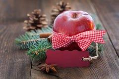 Яблоко с биркой Стоковое Изображение RF