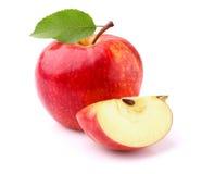 Яблоко с ломтиком Стоковое Изображение
