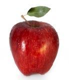 Яблоко с падениями и водой Стоковая Фотография RF