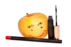 Яблоко с составом Стоковое Фото