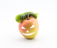 Яблоко хеллоуина Стоковая Фотография RF