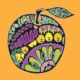 яблоко цветастое Стоковое Изображение